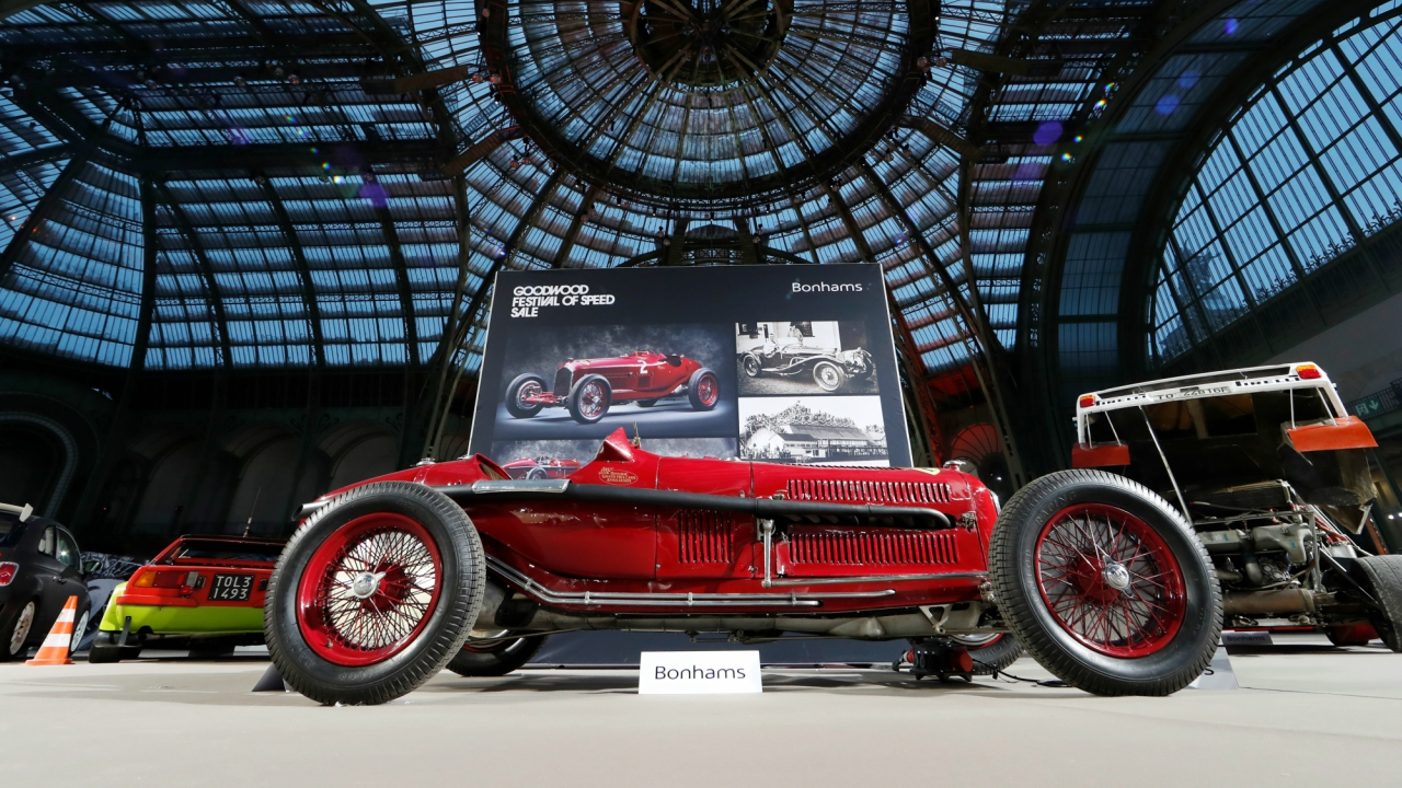 A 1935 Alfa Romeo Tipo B Monoposto, ex-Richard Shuttleworth Donington Grand Prix-winning, is displayed ahead of the Bonhams' Les Grandes Marques du Monde vintage motor cars and motorcycles auction at the Grand Palais exhibition hall as part of the Retromobile vintage car show in Paris France, February 7, 2018. (Reuters)