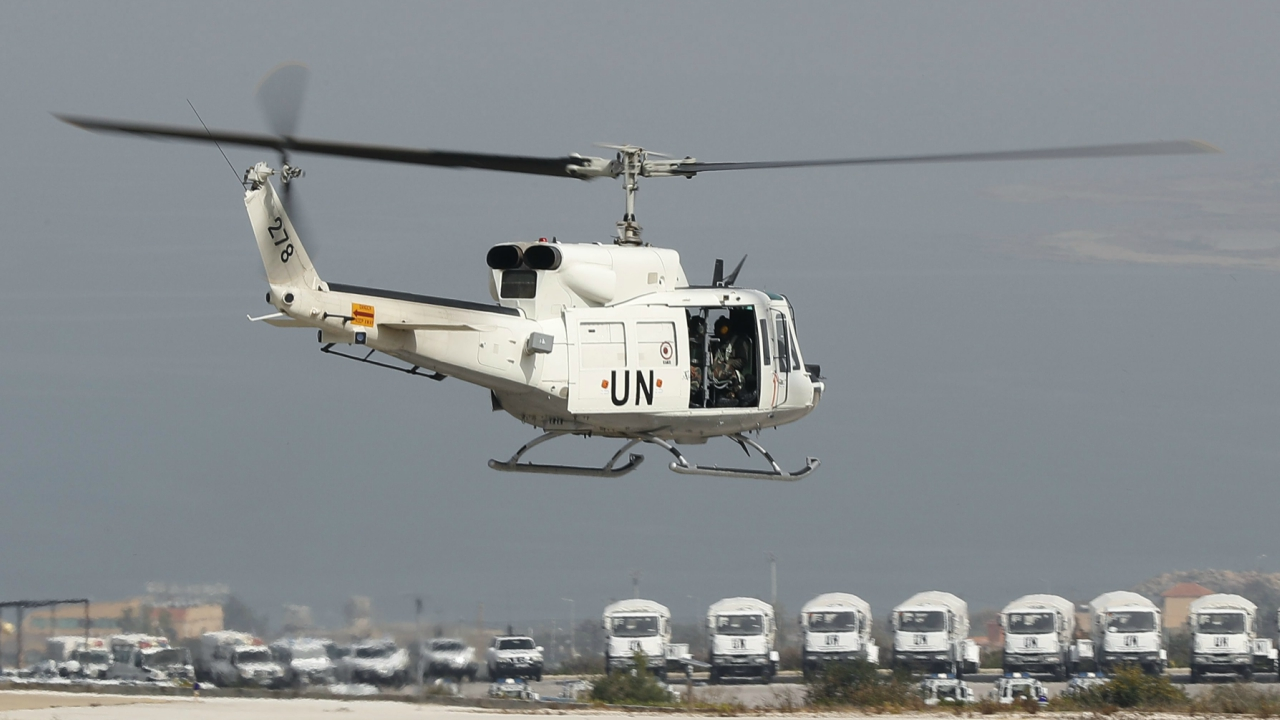 "A United Nations helicopter carrying Italian peacekeepers takes off from the UNIFIL headquarters for a patrol over the Blue Line, a U.N.-drawn boundary between Lebanon and Israel, in the coastal town of Naqoura, southern Lebanon, Wednesday, Feb. 7, 2018. A statement by the Lebanese Higher Defense Council on Wednesday instructed the country's military to confront any Israeli ""aggression"" on its land or maritime borders. The statement comes amid escalating tensions between the two neighbors, who are technically at war. (AP/PTI)"