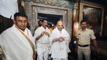 BJP president Amit Shah pays floral tribute to Lingayat founder in Bangalore