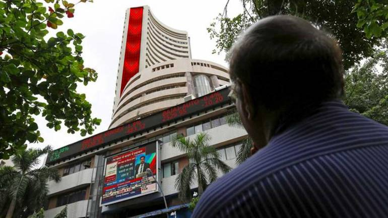 Markets finish volatile day in the red, Sensex loses further 100 points