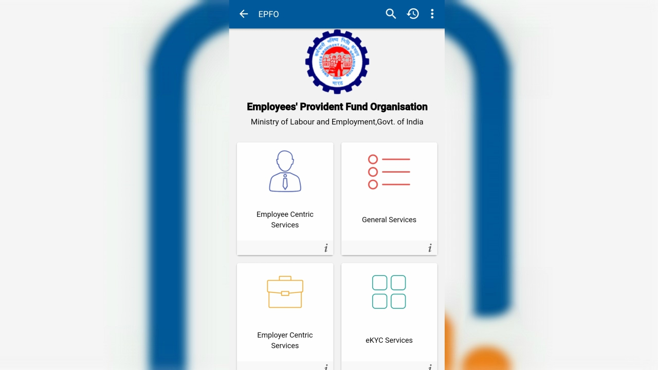 You will now be able to see four prominent services offered by the EPFO, namely, 'Employee Centric Services', 'General Services', 'Employer Centric Services', and 'eKYC Services'. To link your Aadhaar you need to click on the 'eKYC Services' tab.