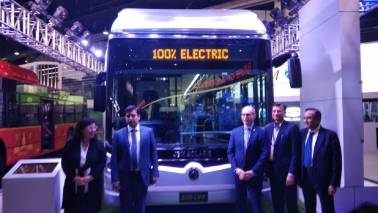 JBM unveils fully electric bus Eco-Life at Auto Expo 2018