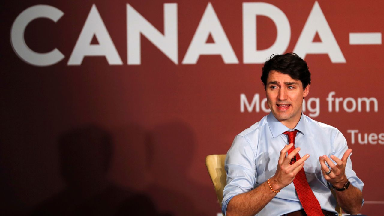 "Trudeau said the proportion of women in the Indian workforce is ""very low"" at 26-27 per cent and exhorted companies to ""pledge"" for increasing their numbers during the Canada-India business forum in Mumbai on Tuesday. (Reuters)"