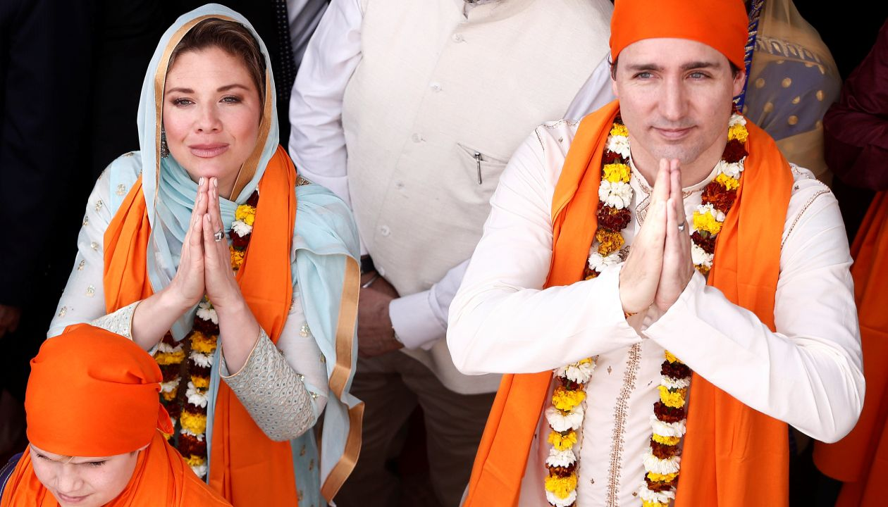 The Canadian PM and his wife visited Golden temple in Amritsar on Wednesday. (Reuters)