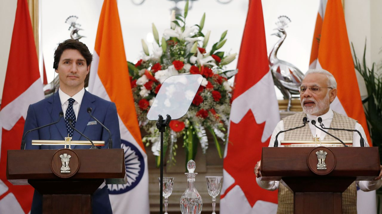 After their nearly two-hour long meeting, PM Modi, while addressing a joint media event with the Canadian prime minister, said they discussed the entire gamut of the bilateral partnership. (Reuters)