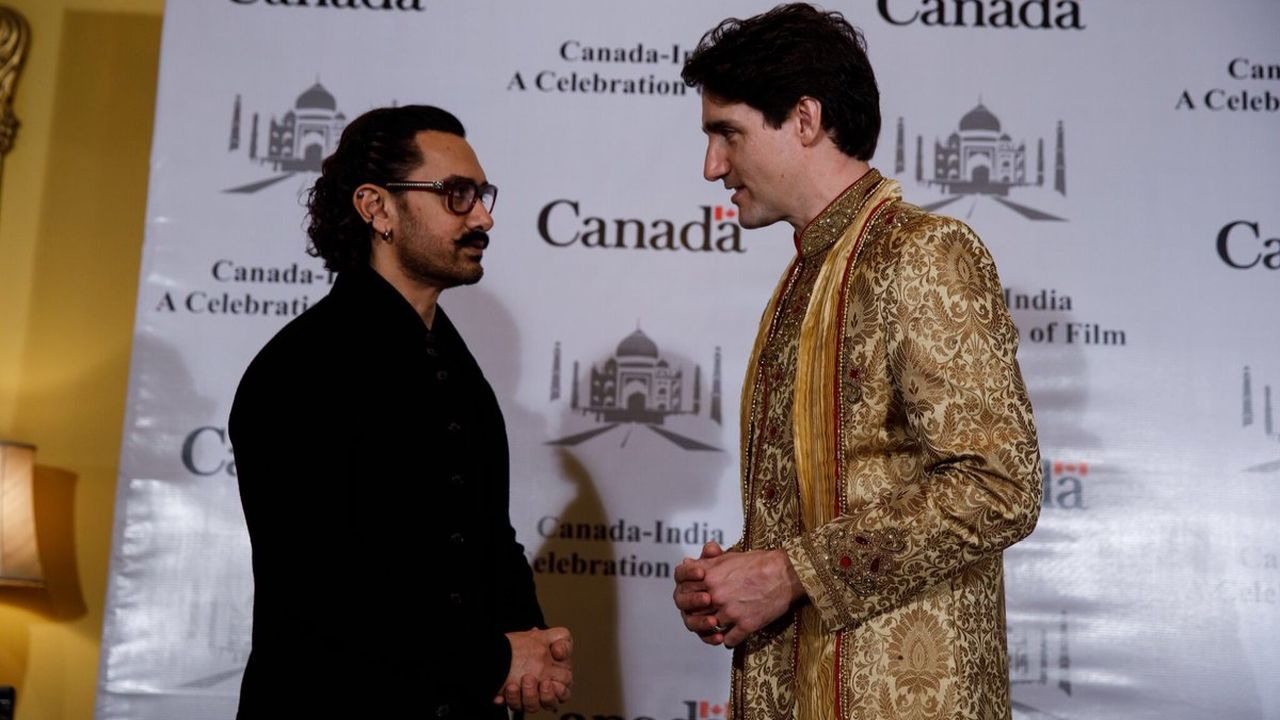 """Aamir Khan - our delegation was very happy to meet you! Thanks for joining us to celebrate a brighter future for the film industry in both our countries,"" tweeted the Canadian PM after meeting Aamir Khan. (Twitter/Justin Trudeau)"