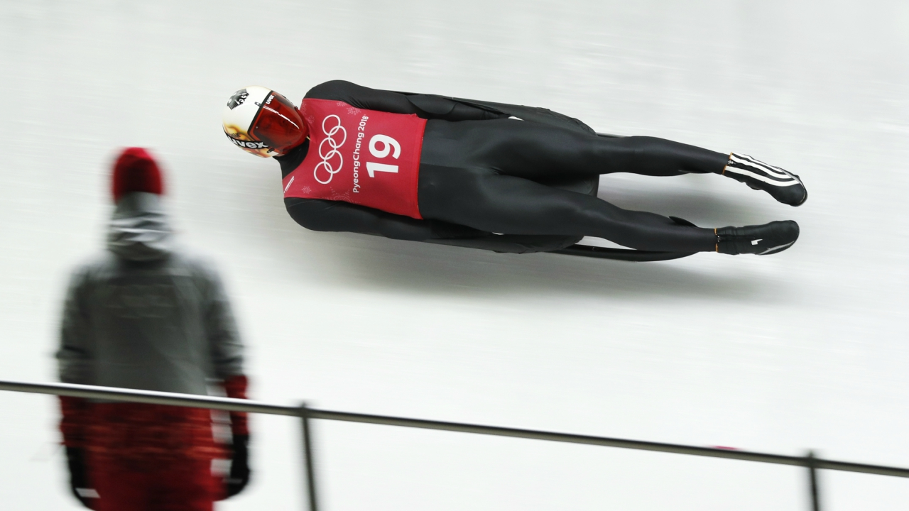 Luge – Pyeongchang 2018 Winter Olympics – Men's Singles training – Olympic Sliding Centre - Pyeongchang, South Korea – February 7, 2018 - Felix Loch of Germany trains. (Reuters)