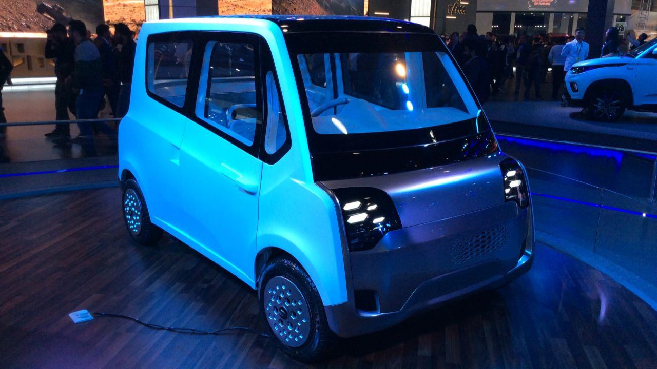 Mahindra Atom is a three seater concept that will help the last mile connectivity.