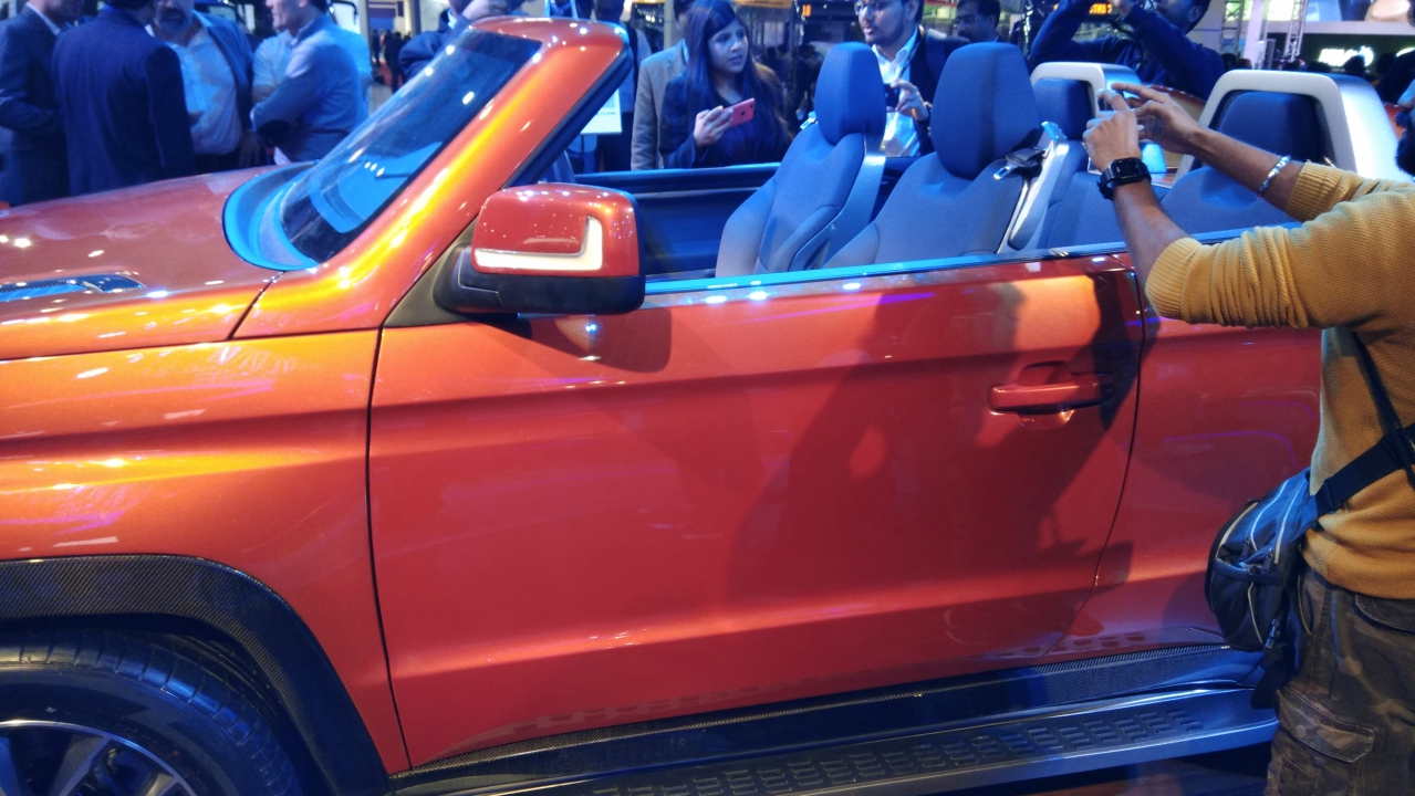 Mahindra Stinger | The Stinger is a four door convertible developed by Mahindra on the TUV300. Its a concept and won't go into production anytime soon.