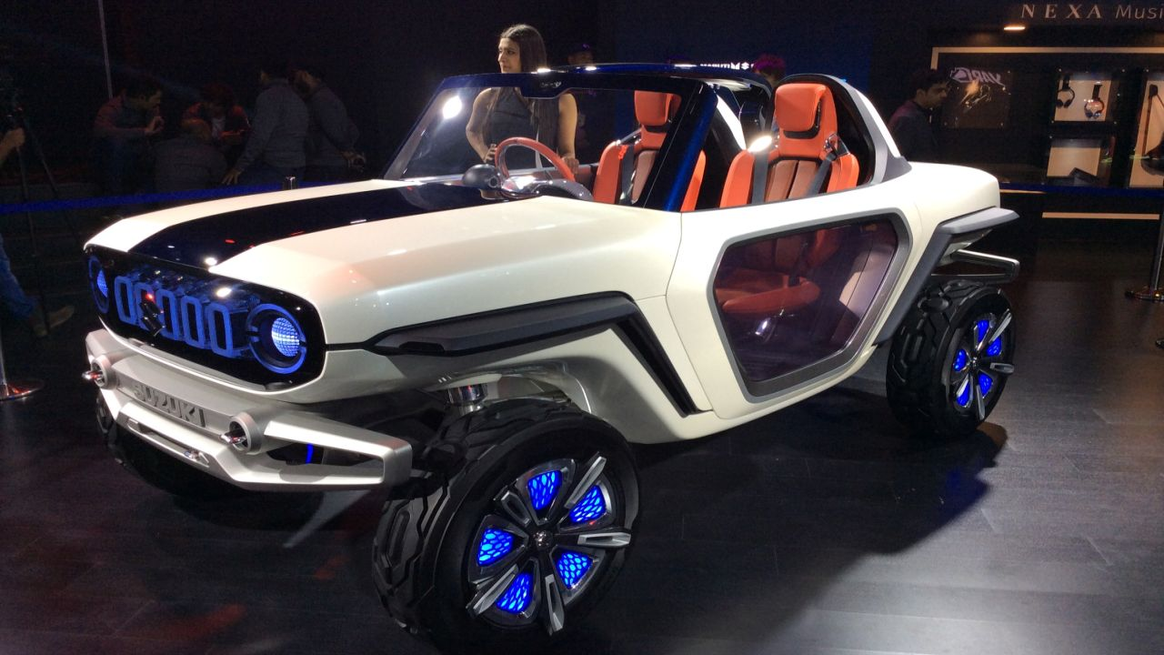 Maruti e-Survivor is a two seater off road concept equipped with autonomous driving technology.