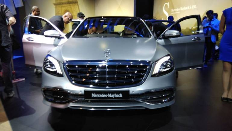 Auto Expo MercedesBenz Displays Maybach S Priced At Rs - Mercedes car show 2018