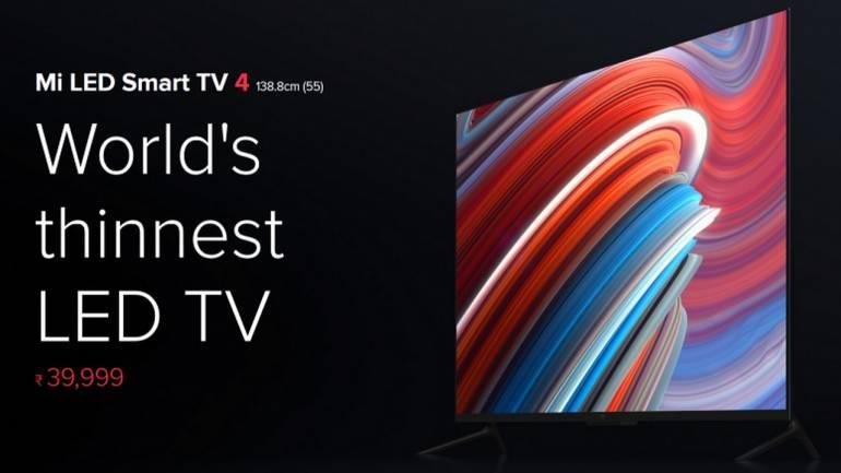 Xiaomi 55 Inch Mi Tv 4 Mi Tv 4a Series To Go On Flash Sale At 12pm