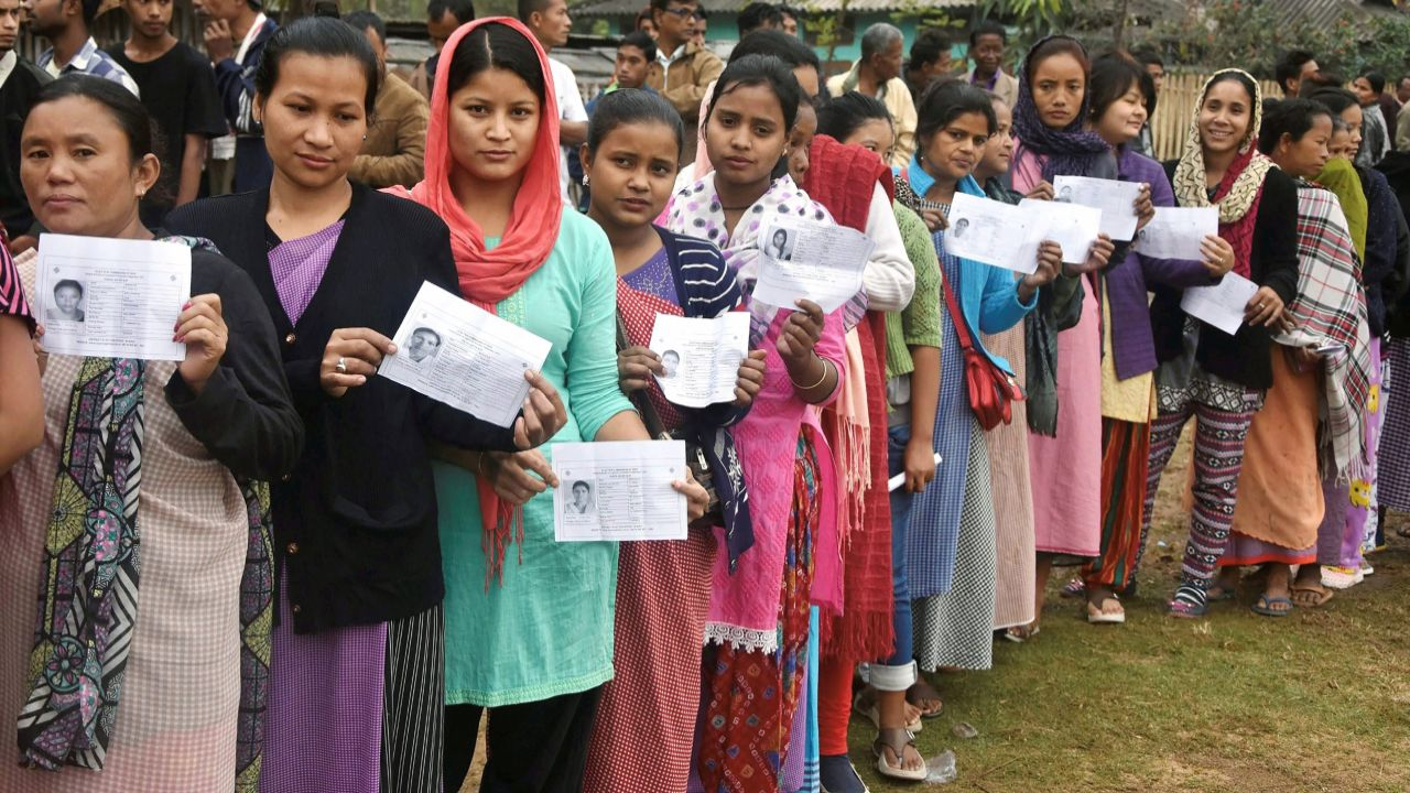Polling for the 60-member Nagaland Assembly also began at 7 am amid tight security arrangement as more than half of the 2,156 polling stations in the state have been reportedly declared critical. (PTI)