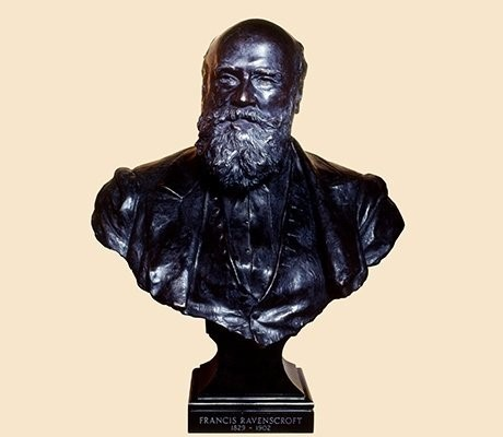 The bust belongs to Francis Ravenscroft. Ede & Ravenscroft is thought to be the oldest firm of tailors in the world. They have provided tailoring and robes to the church, state, legal profession and academia. Who has been their most esteemed customer?