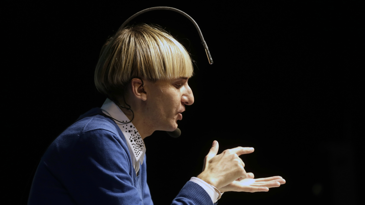 Harbisson is a co-founder of the Cyborg Society and the Transpecies Society — organisations which claim to represent people who identify as non-human. (Reuters)