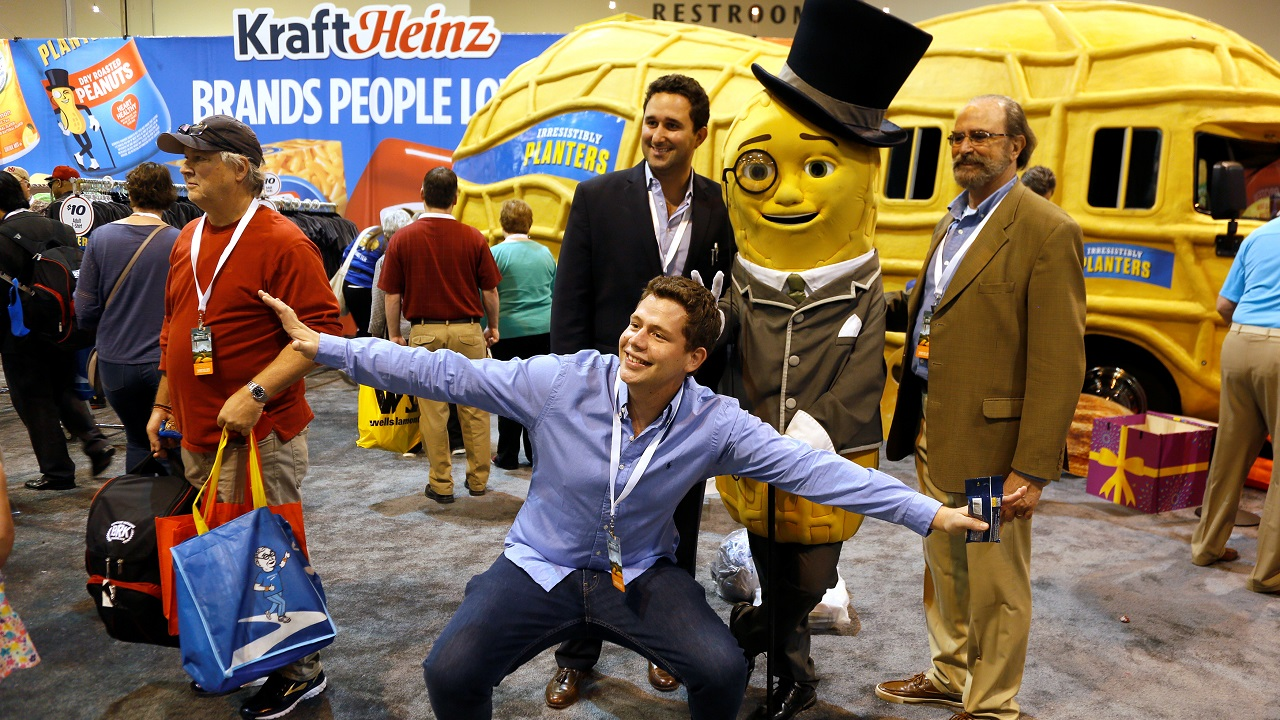Last year's event saw cartoons such as Mr Peanut, the mascot of American snack-food company Planters, entertain guests. (Image: Reuters)