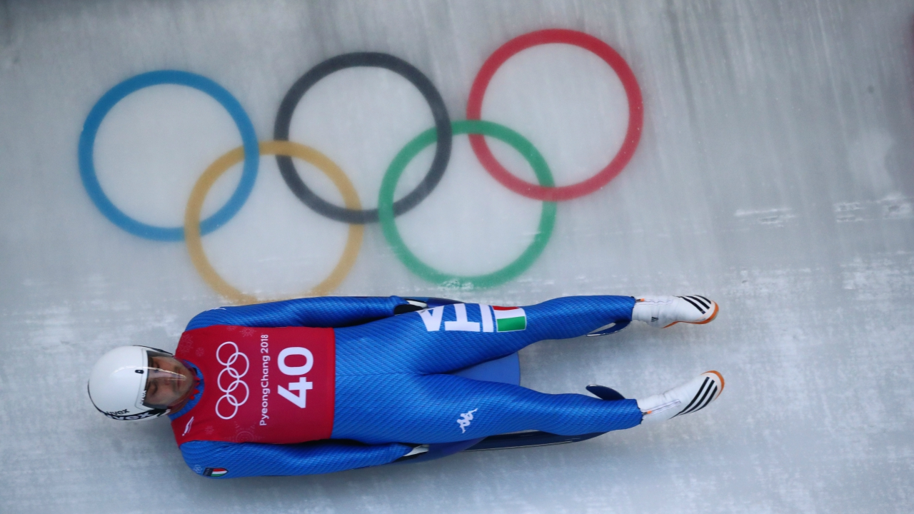 Luge – Pyeongchang 2018 Winter Olympics – Men's Singles training – Olympic Sliding Centre - Pyeongchang, South Korea – February 8, 2018 - Emanuel Rieder of Italy trains. (Reuters)