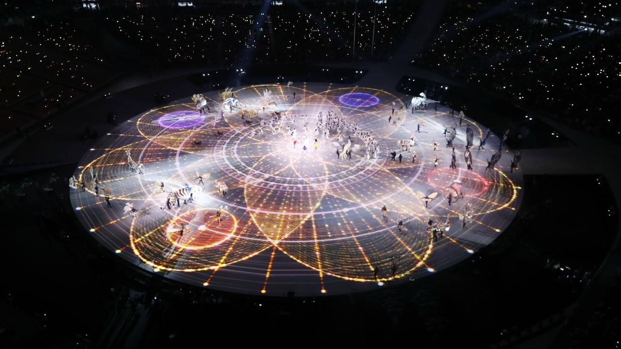 Opening ceremony at Pyeongchang Olympic Stadium. (Image Courtesy: Reuters)