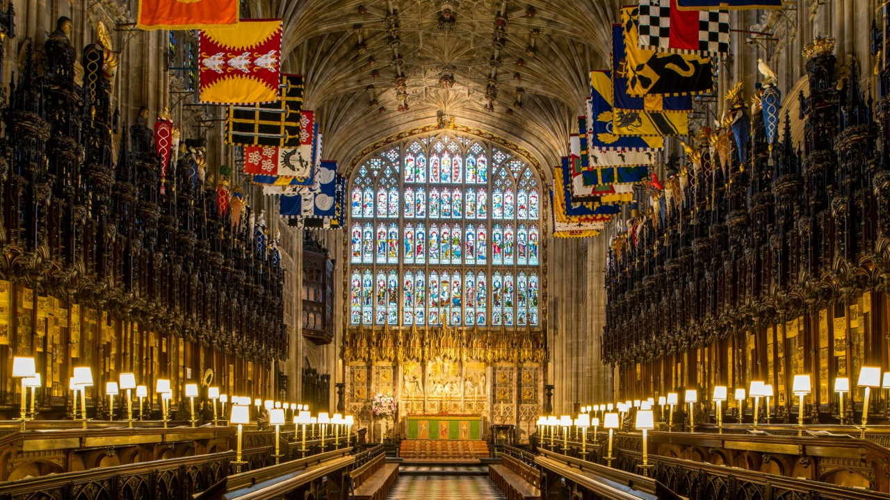 The Quire in St George's Chapel, at Windsor Castle, where Prince Harry and Meghan Markle will have their wedding service, is seen in Windsor, Britain. (REUTERS)