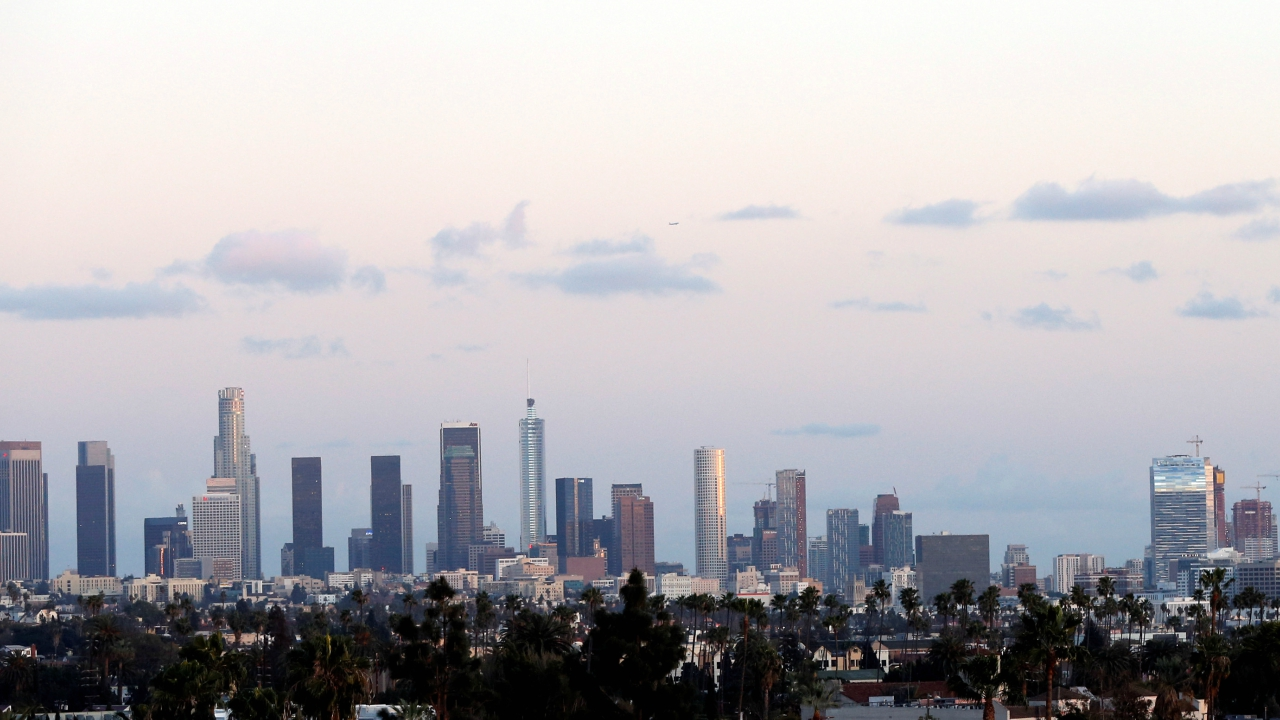 The downtown skyline is pictured in Los Angeles, California, US. (REUTERS)