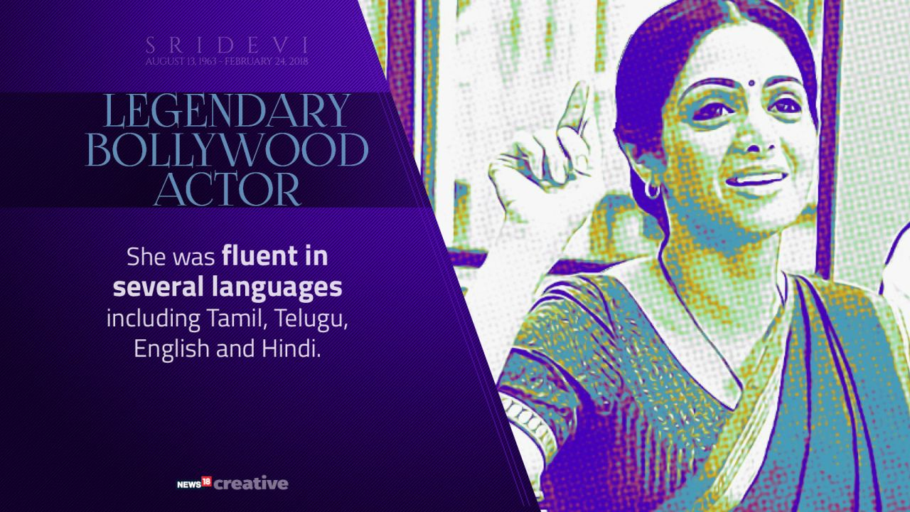 The 'English-Vinglish' actor was fluent in several languages including Tamil, Telugu, Hindi and English.