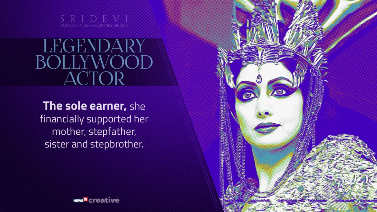 In her life, Sridevi financially supported her mother, stepfather, sister and stepbrother.