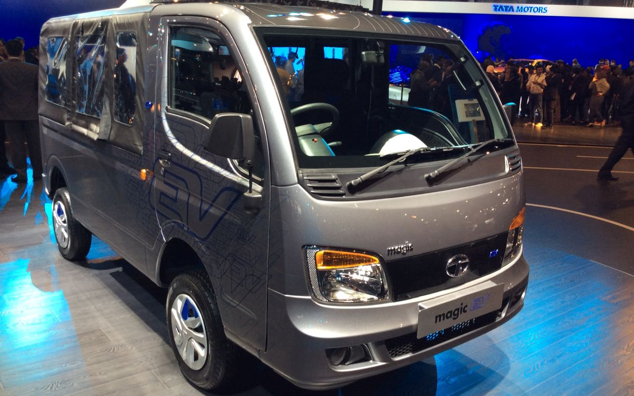 Tata Magic Iris is based on the Ace platform and is a seven seater vehicle.