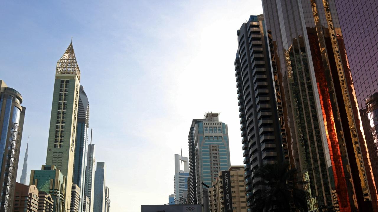 The Gevora Hotel, the world's tallest hotel is seen in Dubai, UAE . (Reuters)