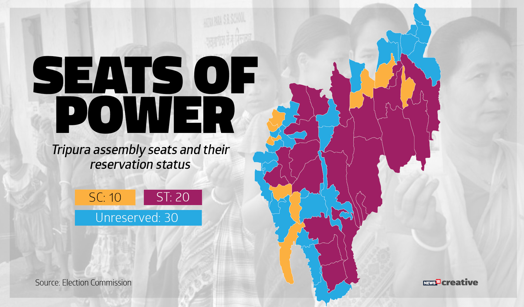 A look at the constituency level vote share