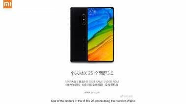 Xiaomi's Mi Mix 2S to pack Snapdragon 845 SoC and an AI camera