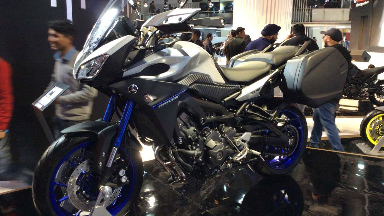 Yamaha MT09 Tracer is a 900cc touring bike which is not yet available in India
