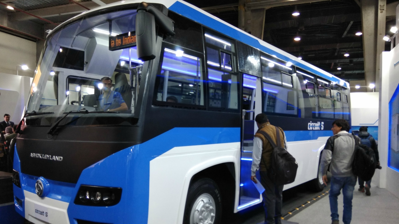 Ashok Leyland's Circuit S is India's first swap battery bus which is designed for Indian conditions with seating capacity ranging from 25-35 passengers. (Moneycontrol)