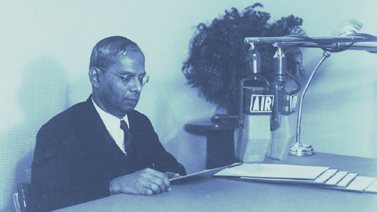 1947-48 | Independent India's first budget, presented by finance minister RK Shanmukham Chetty, earmarked a total expenditure of Rs 197.39 crore. Nearly half of this (46 percent) or Rs 92.74 crore was allocated for just one department. Which department was this? <strong>Ans:</strong> Defence Services (In image, Shanmukham Chetty, Finance Minister broadcasting on the Budget presented by him in the Indian Parliament in November 1947; Wikimedia Commons)