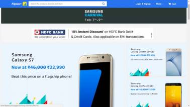 Flipkart offers special discount on Samsung products, Galaxy S7 available at Rs 22,920