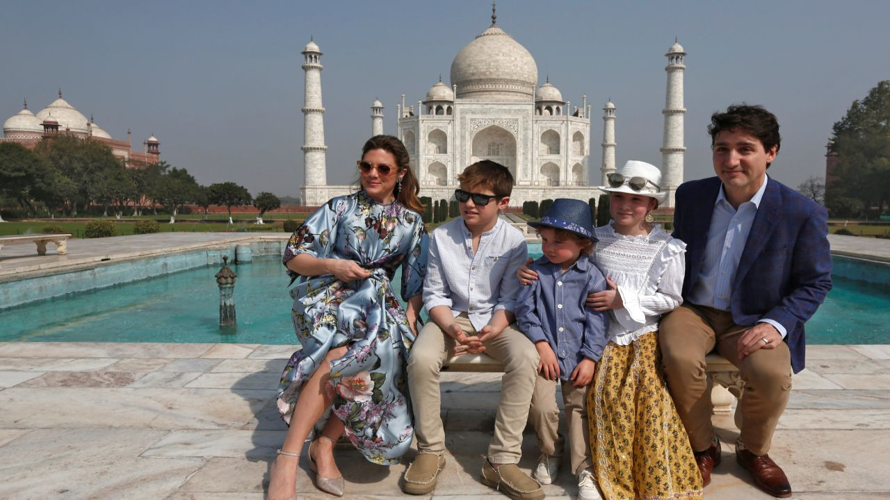 "The Canadian PM started his week-long visit to India with a tour of the iconic Taj Mahal, which he had first seen 35 years ago. ""I was about Xav's age when I first visited the Taj Mahal almost 35 years ago... and it's amazing to be back with him & the family on Day 1 of our trip to India,"" he tweeted. (Reuters)"