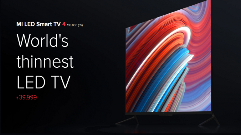 Xiaomi LED TV 4 flash sale at 2 pm today on Flipkart, mi.com; here's all about the thinnest LED TV