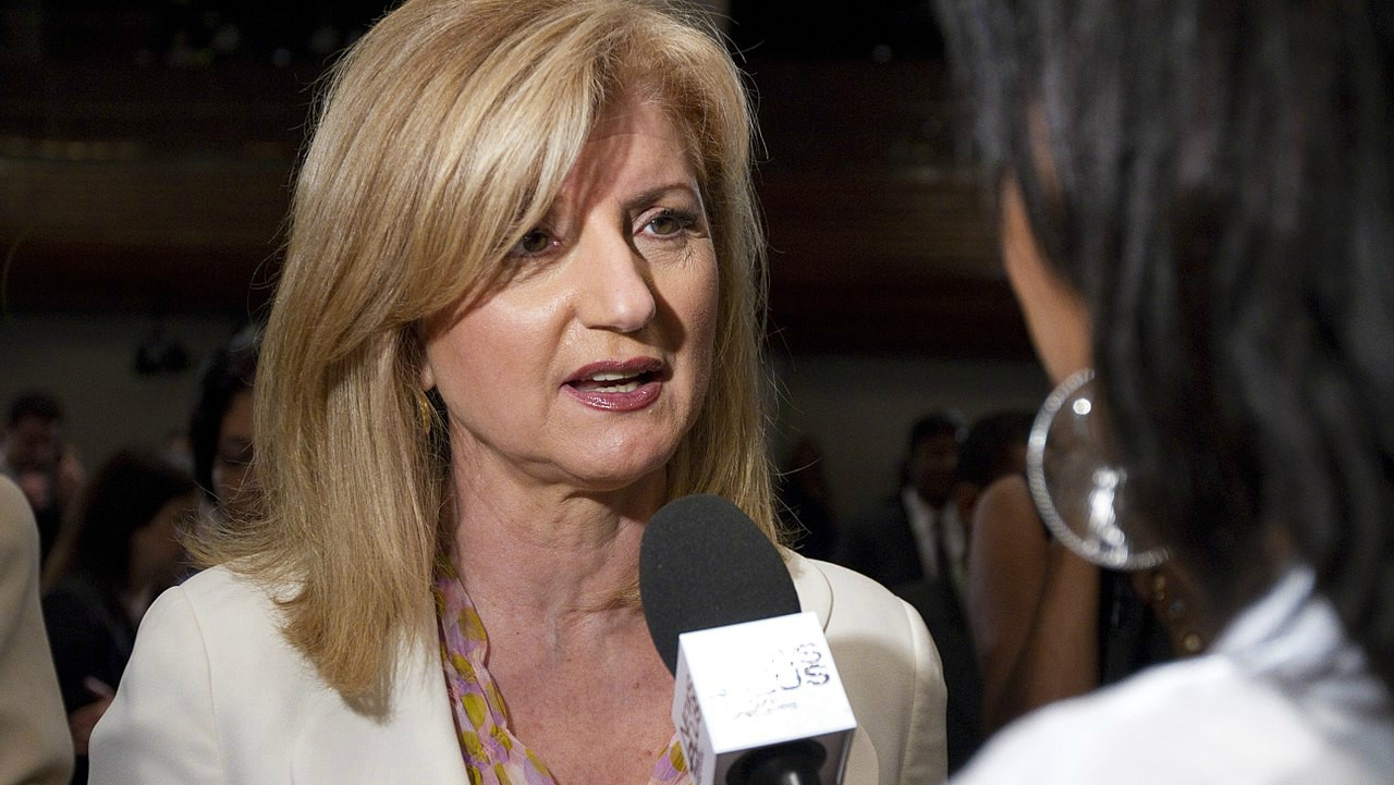 "Don't work too hard: Arianna Huffington. | The President and the Editor-in-Chief of The Huffington Post said that working ourselves to a burnout is not the way to go. She called it a ""collective delusion"" in a LinkedIn post. She also said that ""unplugging, recharging, and renewing yourself,"" would have been some advice she would have given to her younger self. (Image: WIkimedia Commons)"