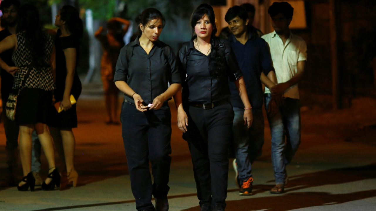 Her sister, Tarannum, followed her lead and now works as a bouncer, too. Together, the sisters are the bread earners, supporting their family of seven. Working in restaurants and as private security for big personalities like Priyanka Chopra, both of them bring home Rs. 30,000 per month. (Reuters)