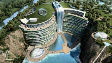 IN PICS: China's new megastructure—a luxury hotel that is 17 storeys underground