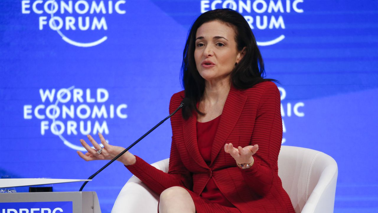 Sheryl Sandberg, COO, Facebook: Leadership is not bullying and leadership is not aggression. Leadership is the expectation that you can use your voice for good. That you can make the world a better place. (Reuters)