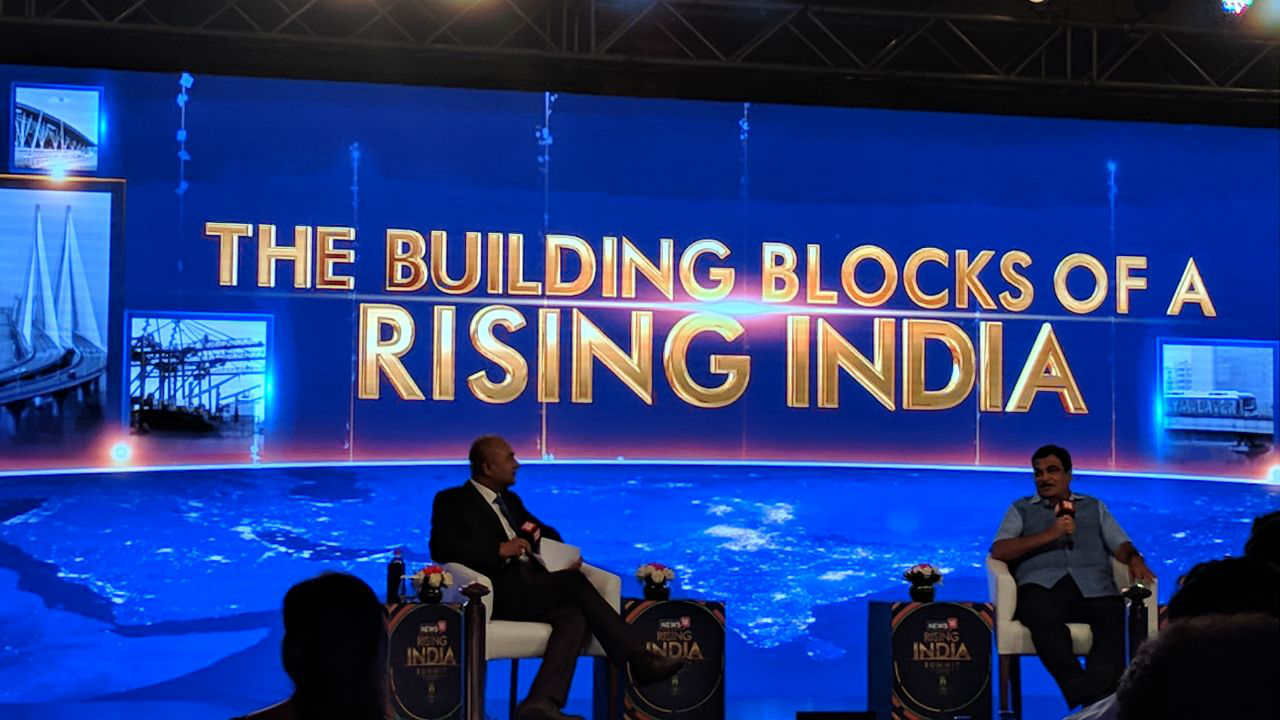 Minister of Road Transport and Highways, Nitin Gadkari, during a panel discussion at the Rising India Summit.