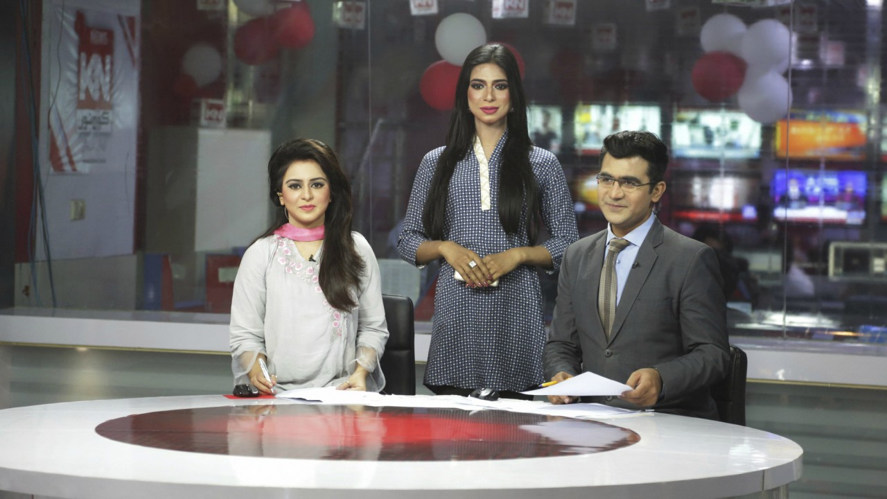 Pakistan's first transgender newscaster Marvia Malik poses for a photo in a control room of a local television channel in Lahore, Pakistan. Malik has made history in Pakistan by becoming the first transgender newscaster in a conservative Muslim country where her community is taunted in public, ostracized by family and targeted in violent attacks. (AP/PTI)