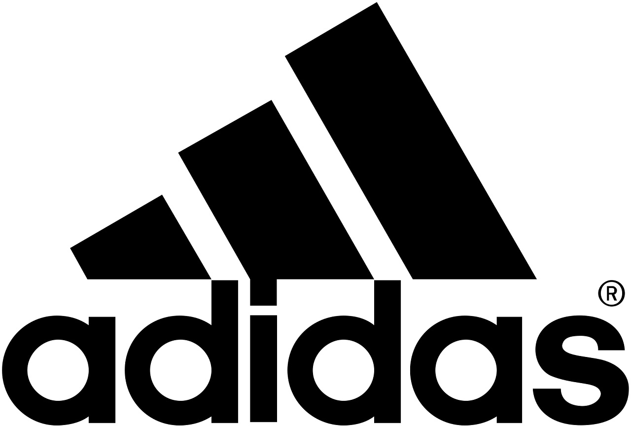 Adidas | Adidas' logo has had many iterations since the company came into being. Its logo has been changed twice in the past but the three stripes have been carried always. The one it currently has, three stripes above the brand name, carries a special meaning. The new logo is designed to look like a mountain. Denoting a challenge in itself – as climbing a mountain is – to push people to explore their limits.