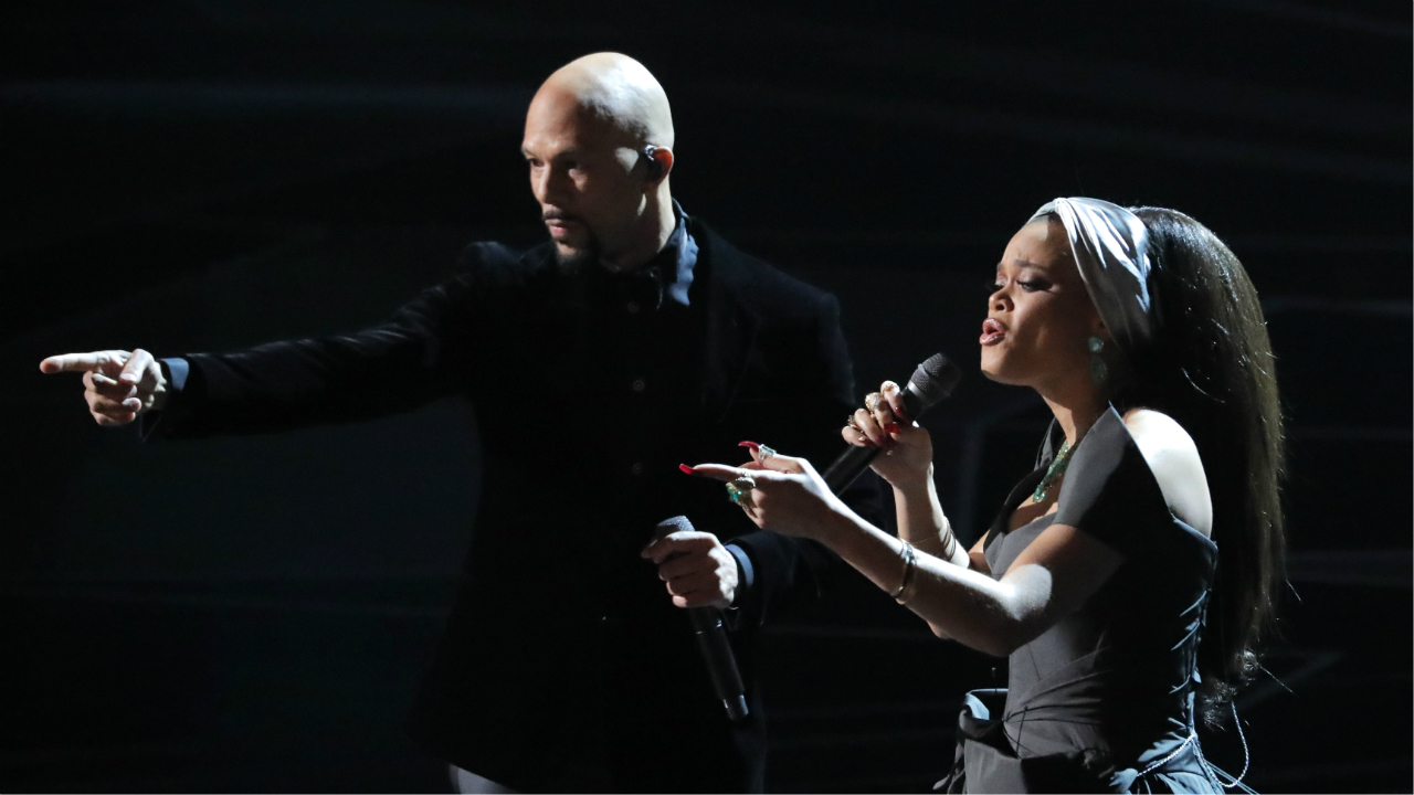 Common and Andra Day sing Best Original Song nominee Stand Up for Something.(Reuters)