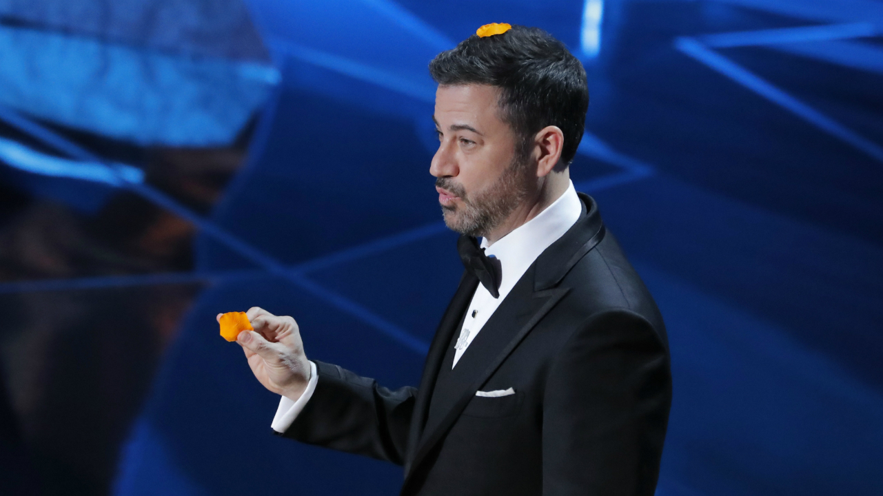Jimmy Kimmel hosts the Academy Awards for the second year in a row. (Reuters)