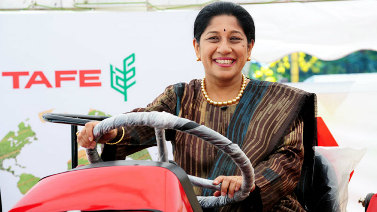 Mallika Srinivasan | She has been the CEO OF of Tractors and Farm Equipment (tafe) Ltd since 2011. Srinivasan was given the Woman Leader of the Year award by Forbes India in 2012.She is an alumnus of the Wharton School of Business. (Photo: TAFE website)