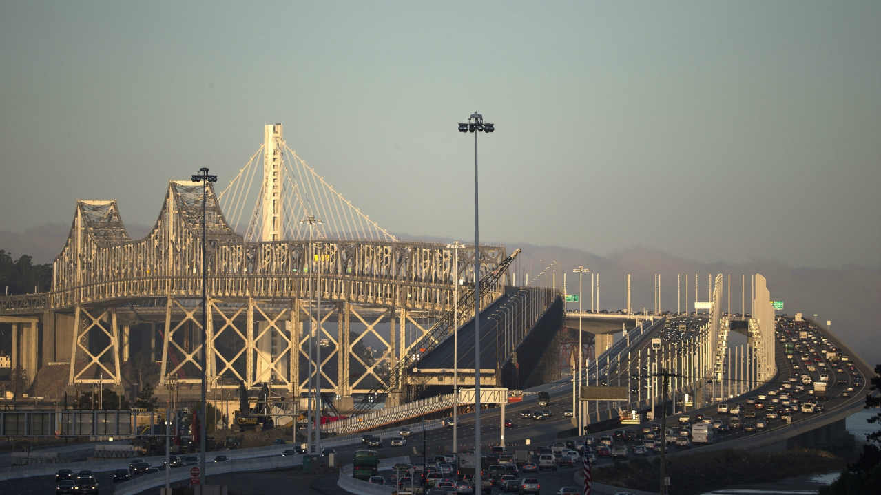 Oakland Bay Bridge   Estimated cost: Rs 42,259 crore   The San Francisco–Oakland Bay Bridge is the world's longest self-anchored suspension bridge that carries approximately2,60,000 vehicles a day on its two decks. It has been designed to withstand strong earthquakes foreseeable by the engineers and seismologists over the next 1,500 years. (Reuters)