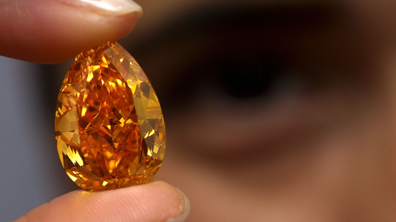 Name - Orange Diamond | Carat - 14.82 | Price - $35.5 million: This diamond is the largest and most expensive orange diamond ever sold at auction. This rock holds the world record for price per carat. (Picture: Reuters)
