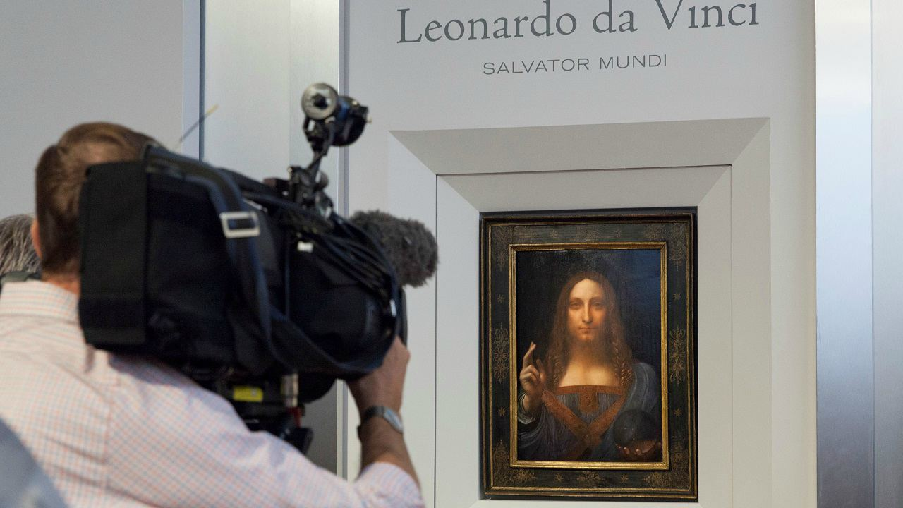 Salvator Mundi (Painting): USD 450 million | The painting of Jesus Christ as Salvator Mundi, dating back to 1500, by Italian artist Leonardo da Vinci was picked up by the Abu Dhabi Department of Culture and Tourism at a Christie's auction in New York for the record price. (Image: Reuters)