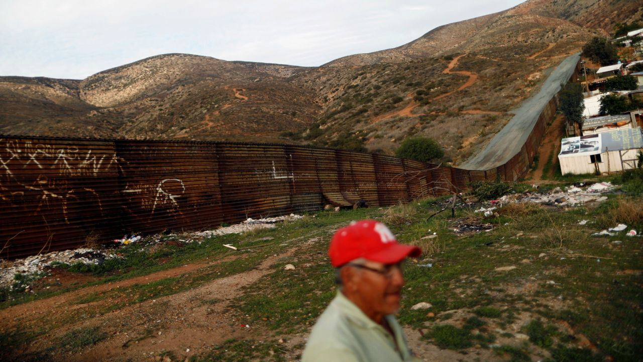 A section of the fence separating Mexico and the United States is seen, on the outskirts of Tijuana, Mexico. (Reuters)
